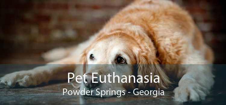 Pet Euthanasia Powder Springs - Georgia